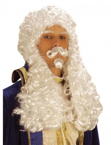 Witte pruik Frans I voor mannen
