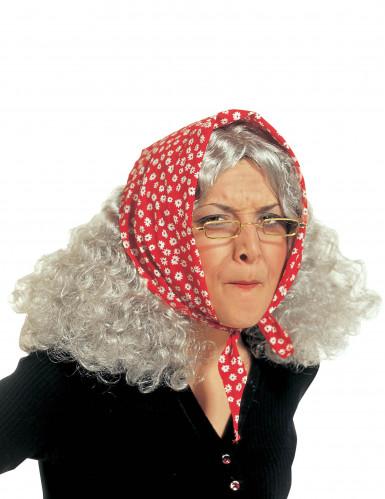 Pruik oude vrouw