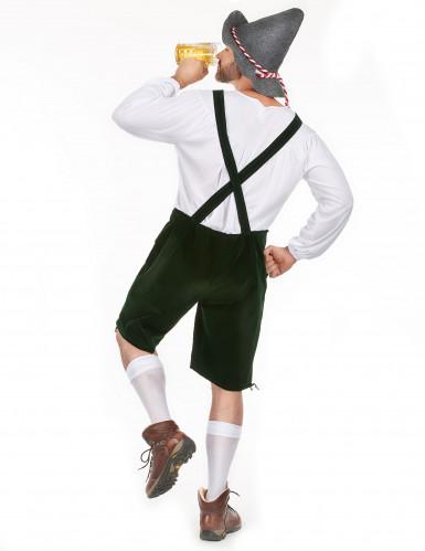 Witte en groene Beierse outfit voor mannen-2