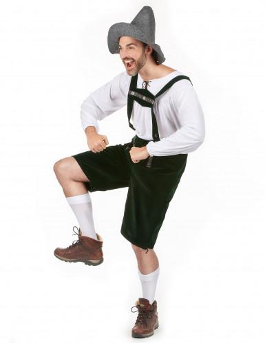 Witte en groene Beierse outfit voor mannen-1