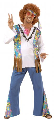 Flower Power hippie pak voor mannen