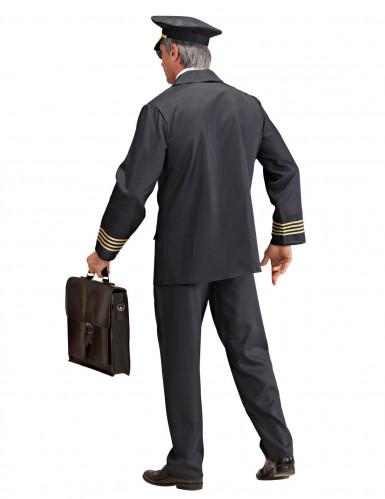 Zwart luchtvaart pilotenkostuum voor mannen-1