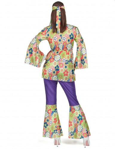 Bloemen hippie outfit voor dames-2