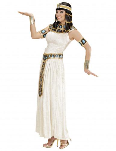 Fluweerlachtig Egyptische koningin kostuum voor dames-1