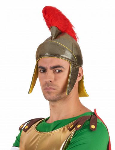 Goudkleurige Romeinse helm van schuim-1