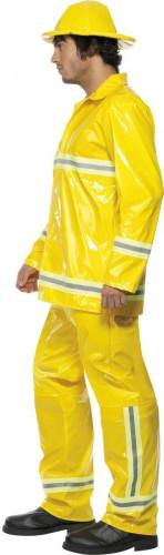 Geel brandweerpak voor mannen-2
