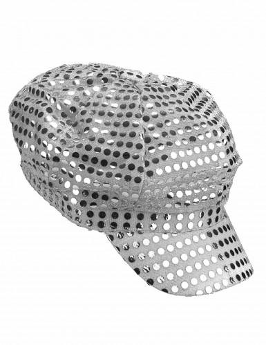 Zilverkleurige discopet-1