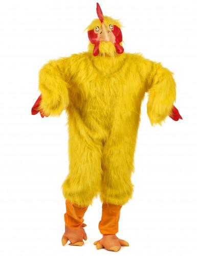 Luxe kip kostuum voor volwassenen