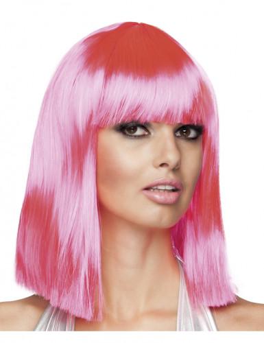 Roze damespruik