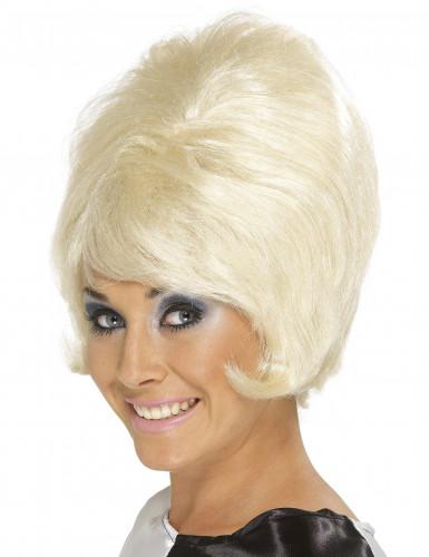 Blonde hoge damespruik.