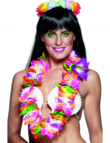 Hawaïhalsketting met levendige kleuren