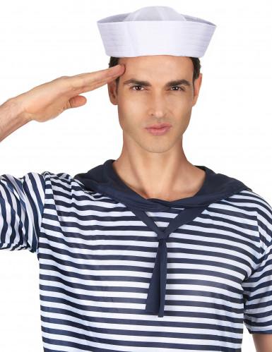 Witte matrozen hoed -1