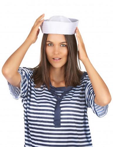 Witte matrozen hoed -2