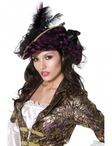 Paarse piratenhoed voor vrouwen