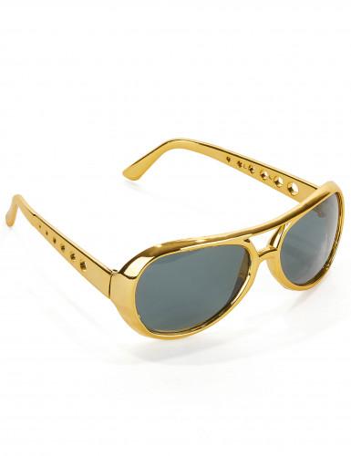 Goudkleurige Elvis™-bril