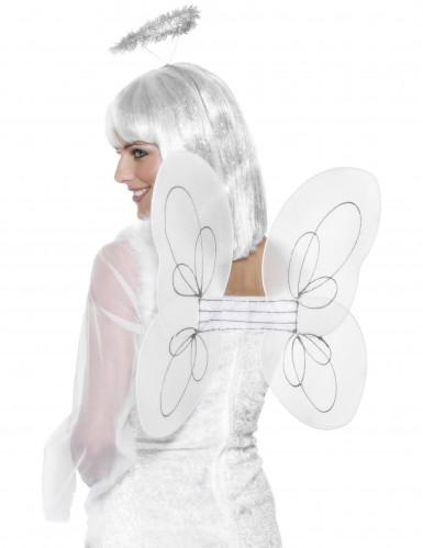 Witte engel vleugels met motieven voor volwassenen
