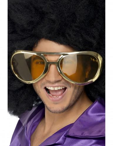 Gigantische goudkleurige bril voor volwassenen