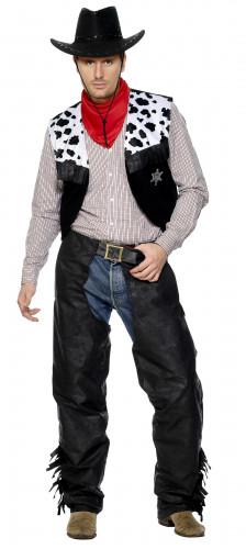 Cowboykostuum met chaps voor mannen
