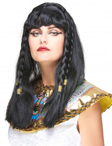 Lange zwarte Cleopatra pruik voor vrouwen