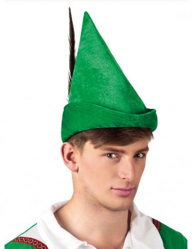 Groene Robin Hood-hoed