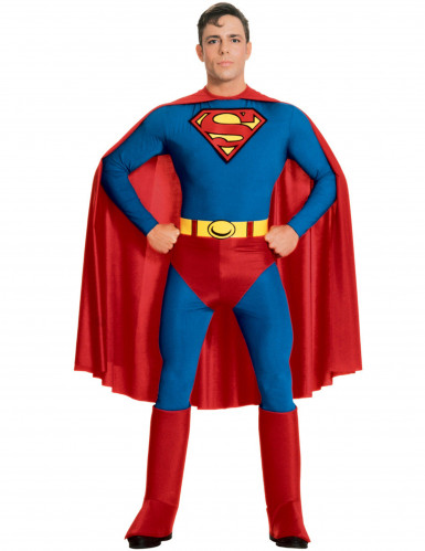 Second skin Superman™ kostuum met cape voor mannen
