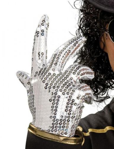 Zilveren pailletten Michael Jackson ™ handschoenen kind