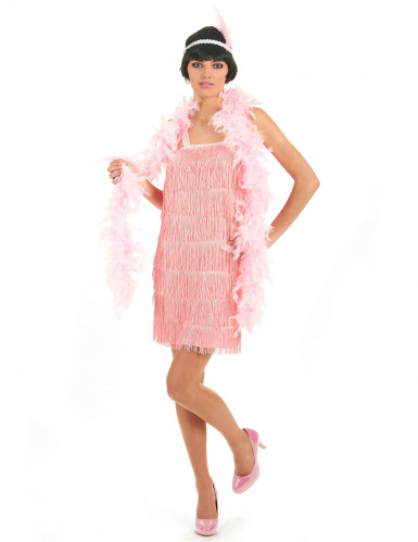 Roze charleston outfit voor vrouwen