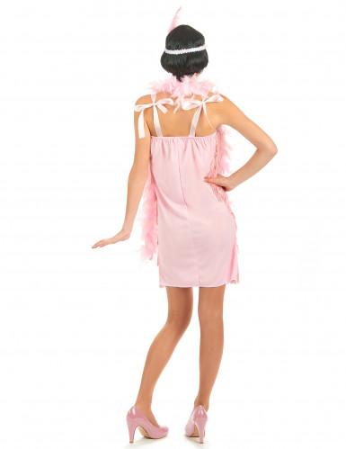 Roze charleston outfit voor vrouwen-2