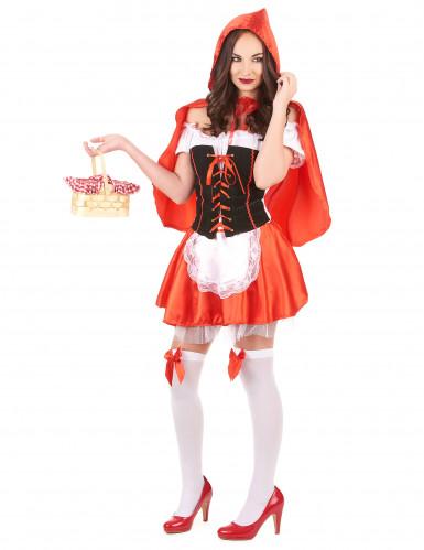 Roodkapje kostuum met nep korset voor vrouwen-1