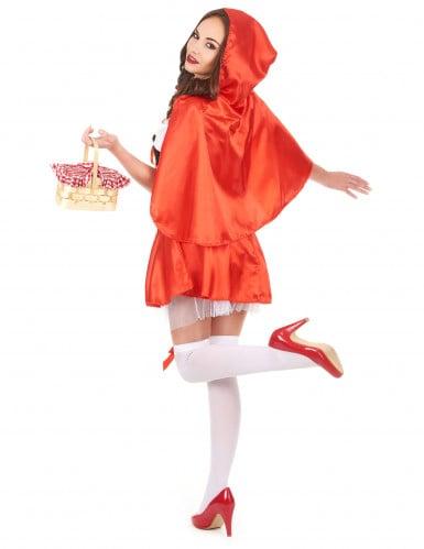 Roodkapje kostuum met nep korset voor vrouwen-2
