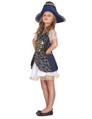 Blauw piraten kostuum voor meisjes -1