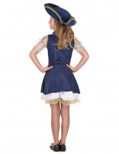 Blauw piraten kostuum voor meisjes -2