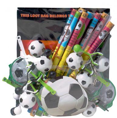 Assortiment van voetbal gadgets