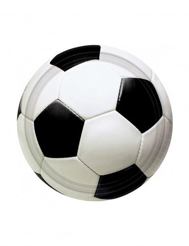 Set van 8 voetbal ballen bordjes