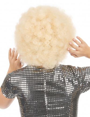 Blonde afro pruik voor volwassenen-1