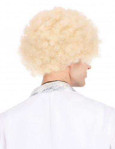 Blonde afro pruik voor volwassenen-2
