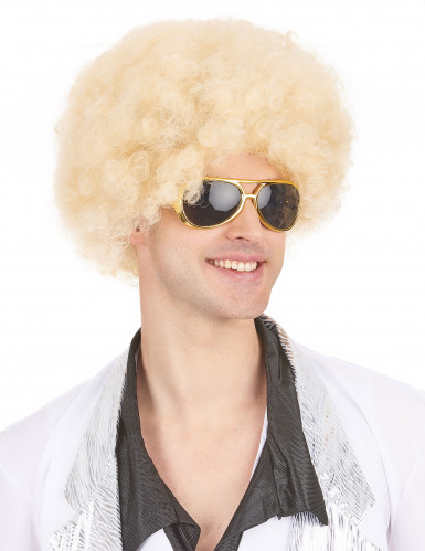 Blonde afro pruik voor volwassenen-3
