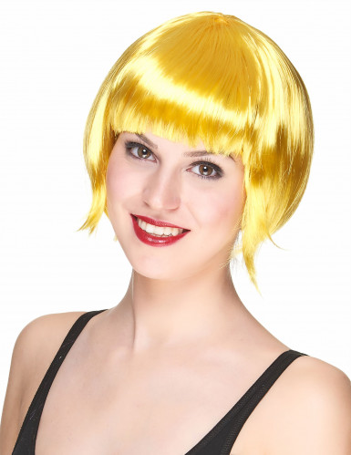 Korte gele pruik voor vrouwen