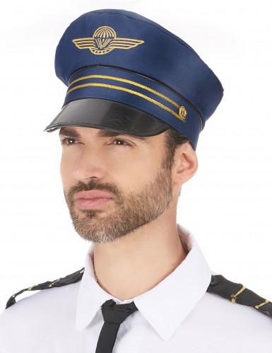 Blauwe kapitein pet voor volwassenen-1