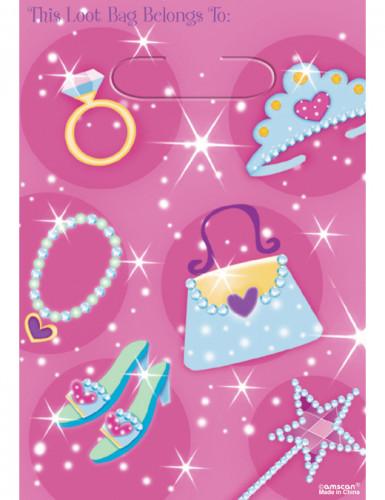 Roze prinsessen tasjes