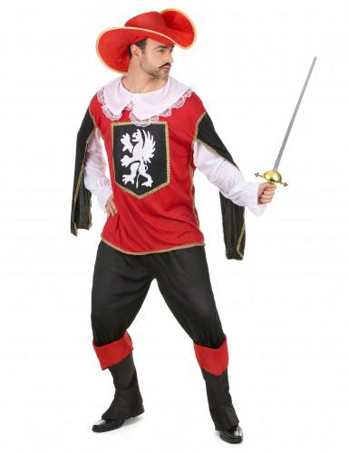 Rood musketier kostuum voor heren-1
