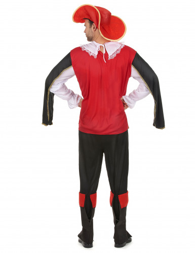Rood musketier kostuum voor heren-2