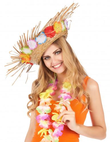 Rieten Hawaii hoed-1