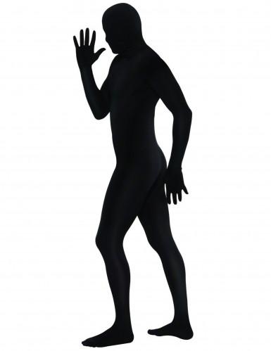 Zwart second skin outfit voor volwassenen-1