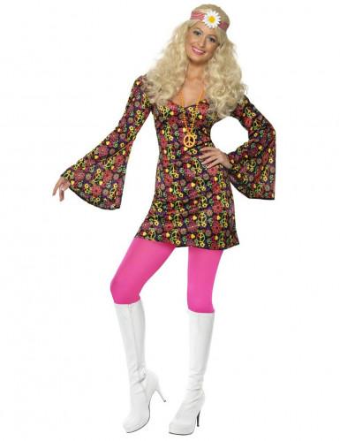 Retro hippie kostuum voor dames