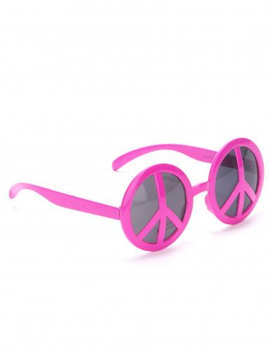 Roze hippie bril