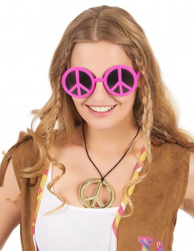 Roze hippie bril-1
