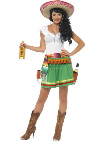 Mexicaanse serveerster kostuum voor vrouwen