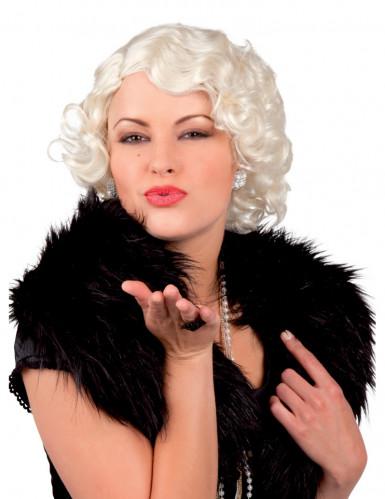 Platina blonde pruik voor vrouwen