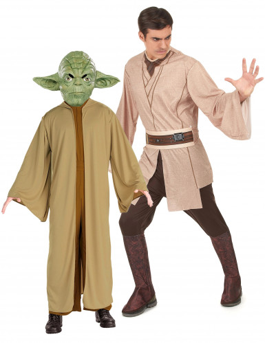 Yoda en Jedi uit Star Wars™ koppel kostuum